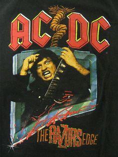 Vintage Tshirt - AC/DC - 1990 1991 The Razors Edge World Tour XL RARE #vintage #tshirts #acdc | $89