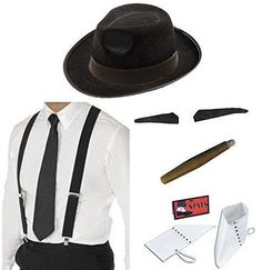 #Men's 20's #1920's gangster capone gatsby #mafia fancy dress stag costume set ,  View more on the LINK: 	http://www.zeppy.io/product/gb/2/322142364566/