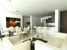Sala Comedor Cocina Pequeños : Diseños de sala comedor y cocina juntos decoracion hogar