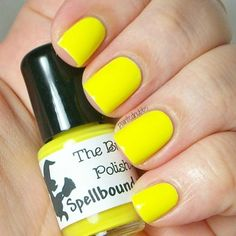 Lemon Icee - Neon Yellow Creme Nail Polish sold by Spellbound Nails. Shop more products from Spellbound Nails on Storenvy, the home of independent small businesses all over the world. Neon Pink Nail Polish, Yellow Toe Nails, Neon Nails, Nail Polish Colors, Blue Nail, Color Nails, Sparkle Nails, Nail Polish Designs, Acrylic Nail Designs