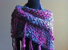 Chal de lana para otoño-invierno