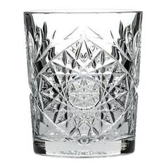 Hobstar Double Old Fashioned Glasses / - Set of 12 - Vintage Cut Glass Whisky Tumblers