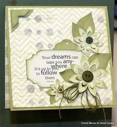 Dreamy Card Inspiration with Connie. Hi, Connie here with a card using the all new and fabulous Chiffon Collection by Quick Quotes!!!