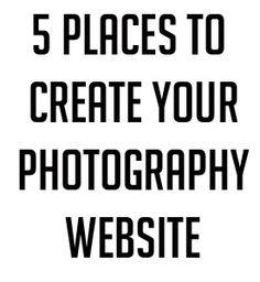 Photography websites.