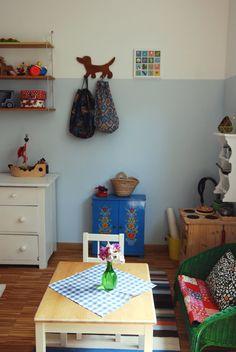Blick auf die Puppenecke meiner fast vier Jahre alten Tochter