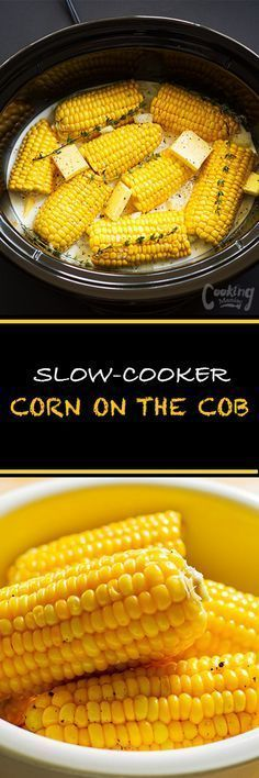This slow-cooker corn on the cob recipe is so easy.Braising the corn in coconut … This slow-cooker corn on the cob recipe is so easy.Braising the corn in coconut milk ensures that the corn is crisp, juicy and retains its corn flavor. Cooks Slow Cooker, Crock Pot Slow Cooker, Crock Pot Cooking, Slow Cooker Recipes, Cooking Recipes, Cooking Corn, Dishes Recipes, Easy Recipes, Crockpot Dishes