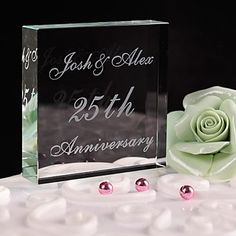 Personalized Crystal Anniversary  Cake Topper – USD $ 14.99