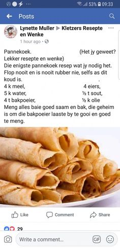 Light Recipes, My Recipes, Sweet Recipes, Baking Recipes, Favorite Recipes, Curry Recipes, Braai Recipes, Recipies, South African Desserts