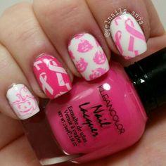 Breastcancer Awareness nails Nail Ideas, Nail Polish, Nail Art, Nails, Enamels, Ongles, Nail Polishes, Manicures, Nail Arts