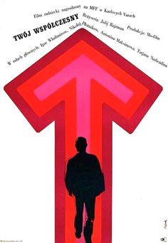 Polish Movie Poster by Jerzy Flisak, 1968, 'Your Contemporary' dir. by J. Rajzman.