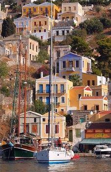 Symi island, Greece - travel the world Beautiful Islands, Beautiful World, Beautiful Places, Places To Travel, Places To See, Places Around The World, Around The Worlds, Harbor Town, Greek Isles