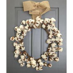"20"" Cotton Boll Wreath"