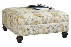 Hindell Park - Putty Oversized Accent Ottoman - I like this style but I want a different pattern by far and I'd like more tufting. Ottoman, Furniture, Selling Furniture, Accent Ottoman, Wholesale Furniture, Porch Furniture, Ashley Furniture, Ashley Furniture Sofas, Furniture Sale