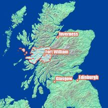 Map of Fort William location in Scotland Ben Nevis, Fort William, Uk Homes, Inverness, Scottish Highlands, Outlander Series, Glasgow, Claire, Maps