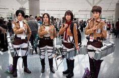 Shingeki no Kyojin #cosplay #steampunk (Attack on Titan) | Anime Expo 2013 | http://www.crunchyroll.com/attack-on-titan