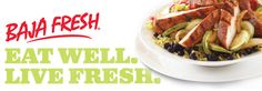 www.BajaFresh.com   Good, affordable Mexican food. Their vegetable burrito is my favorite to-go-lunch!