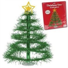 """16"""" Christmas Tree Centerpieces: Available Color: Green. Product Size: 16"""". Carton Weight: 17 lbs. Packaging: 48. #customxmastree #16inch #promotionalproduct #customproduct #christmasgiveaways"""