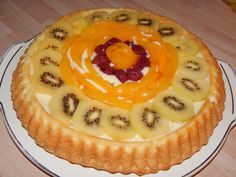 Pudingos gyümölcstorta recept Just Eat It, Cake Cookies, Cookie Recipes, Bakery, Cheesecake, Food And Drink, Pie, Easter, Sweets