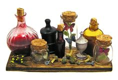 Dollhouse Miniature Collector's/Potion Board - Handmade 1:12 scale OOAK