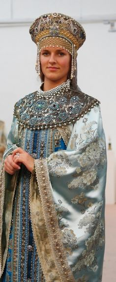 Traditional Costumes Of Boyars Russian Medieval Aristocrats 16th Century Modern Replica