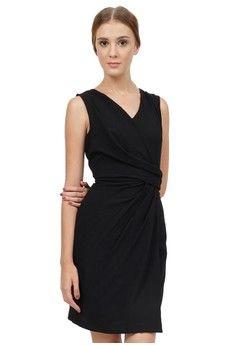 Wanita   Pakaian   Dress   Mini Dress   Drappy Wrap Dress   Minimal ... ef119c5474