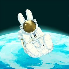 "When ur bunny is ""out of this world "" kinda rabbit! Funny Bunnies, Baby Bunnies, Cute Bunny, Kawaii Drawings, Cute Drawings, Memes Arte, Rabbit Rabbit Rabbit, Year Of The Rabbit, Bunny Care"
