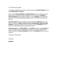 How to write a character letter of support to a judge character 54 best letter images on letter templates thecheapjerseys Choice Image