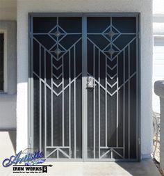 Geneva - Wrought iron security screen double doors - Model: FD0141