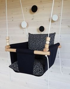 Black Baby Swing***Ships Fast***Toddler Swing/ Natural Swing/ Linen Swing/ Indoor Swing/First Birthday Gift/ Fabric Swing Indoor Swing, Porch Swing, Bussines Ideas, Montessori Playroom, Portable Bed, First Birthday Gifts, Baby Swings, Kids Wood, Black Babies