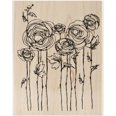 Stampendous Mounted Rubber Stamps-Ranunculus Field | Overstock.com Shopping - Big Discounts on STAMPENDOUS Wood Stamps