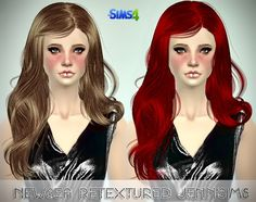 Jenni Sims: Newsea Color Of Wind Hair and Rachel, Isabel hairstyles retextured - Sims 4 Hairs - http://sims4hairs.com/jenni-sims-newsea-color-of-wind-hair-and-rachel-isabel-hairstyles-retextured/