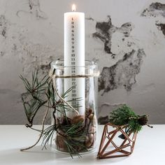Innovative design and simplicity. A very stylish advent calendar candle Innovative design and simplicity. A very stylish advent calendar candle Danish Christmas, Natural Christmas, Scandinavian Christmas, Christmas Time, Holiday, House Doctor, Plywood Furniture, Design Furniture, Diy And Crafts