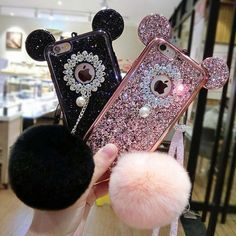 Details about Luxury Bling Diamond Glitter Mickey Mouse Plush Ball Strap Case Cover for iPhone - Iphone Plus Glitter Case - Iphone Plus Glitter Case ideas - Fluffy Phone Cases, Girly Phone Cases, Coque Smartphone, Coque Iphone 6, Iphone 5s Covers, Iphone Phone Cases, Capas Samsung, Glitter Iphone 6 Case, Accessoires Iphone