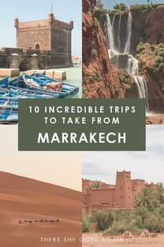 Looking to get out of Marrakech? Here are 10 excursions and day trips to consider! | things to do in marrakech, marrakech day trips, places to visit in morocco