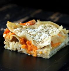 vegan sweet potato cauliflower lasagna. i like this one better than whole food's vegan lasagna.