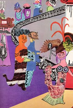 Cinderella - retold in story & collage by Alan Suddon (1969).
