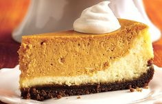 Layered Pumpkin Cheesecake Recipe.....by far one of my favorite cheesecake recipes
