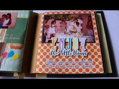 Mundo Scrapbook: Álbum Scrapbook ~ EJC Scrapbook, Album, Little Things, Youtube, Scrapbooking, Youtubers, Youtube Movies, Card Book, Guest Books