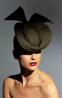Richard Nylon Millinery, 'Edwardia' - Couture Headwear. Model: Sophie Van Den Akker. Photo: Brett Goldsmith.