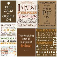 Thanksgiving Subway Art Free Printables