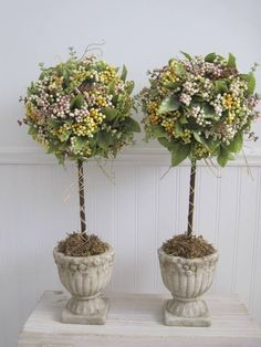 Topiary Trees - Lara Smith (tutorial  - how to make at home one of these)