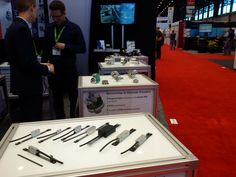 Lika's booth E-4354 at #IMTS in #Chicago. Linear #encoders from Lika. Photo from Day 1