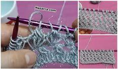 4 KÖŞE ŞAL MODELİ ANLATIMLI MEŞHUR ÖRGÜ | Nazarca.com Easy Knitting Patterns, Crochet Patterns, Ashley Graham Lingerie, Sewing Techniques, Fancy, Wool, Tote Bag, Pink, Create