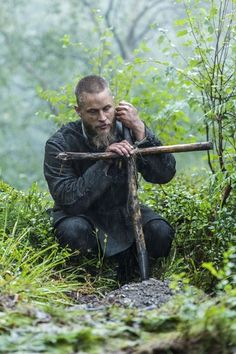 Ragnar Lothbrok (Travis Fimmel) buried his friend Athelstan in Vikings