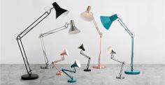 Bronx grote staande lamp, matzwart | made.com