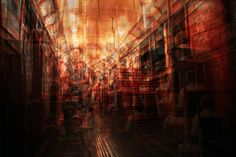 """Alessio Trerotoli """"Urban Melodies"""".  """"With this project I'm trying to create, by superimposing different pictures, a sort of abstract representation of urban landscapes and contemporary life from modern metropolis. I use four or five different pictures of the same place, the same subject, to create every image. So everything is duplicated, lights and subjects multiply and build a new vision of urban life."""""""