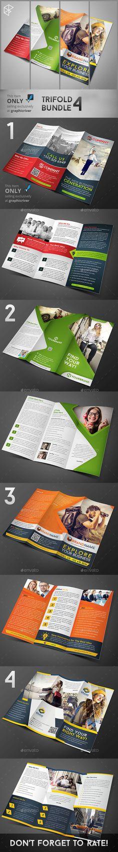 Trifold Brochure Templates Bundle 4 #brochure Download: http://graphicriver.net/item/trifold-bundle-4/11326720?ref=ksioks