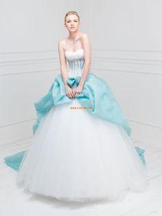 Princess-Stil 3/4 Arm Applikation Brautkleider 2014