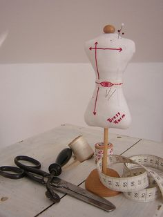 Dressform Pincushion--includes link to pattern