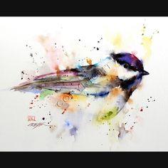 CASQUILLO negro carbonero coloridas aves 8 x 10 baldosas